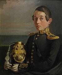 portrait of friherre carl gustaf wrede af elimä by evgraf semenovich sorokin
