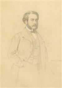 portrait d'homme au monocle by eugène emmanuel amaury-duval (pineu)