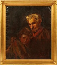 man with young child by myron barlow
