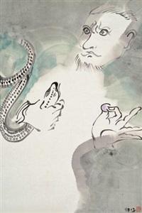 广目天王 (virupaksa) by liang ying