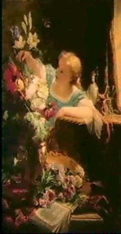 jeune fille aux fleurs by louis emile adam