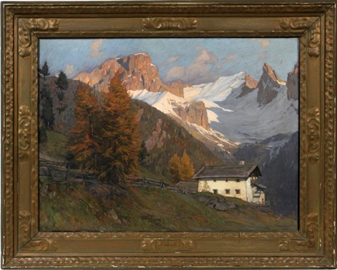 fall alpine landscape by gustav jahn