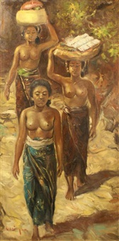 three indonesian women by hasim