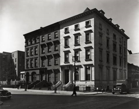 fifth avenue houses nos 4 6 and 8 by berenice abbott