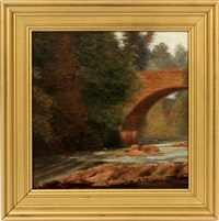 bridge over stream by worthington whittredge