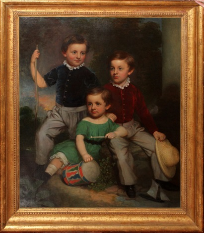 portrait of three brothers by anonymous british 19