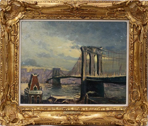 brooklyn bridge by george benjamin luks