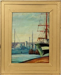 harbor scene by fern isabel coppedge
