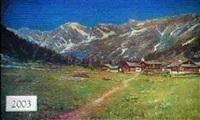 austrian landscape mountain scene by augusto laforet