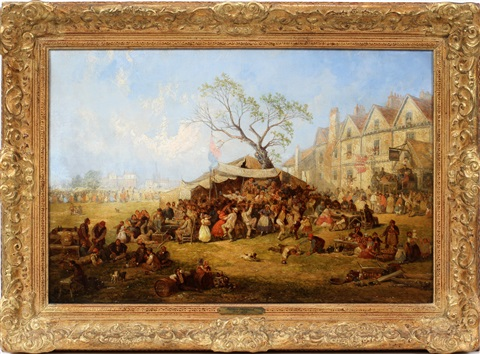 english town fair with tent by james holland