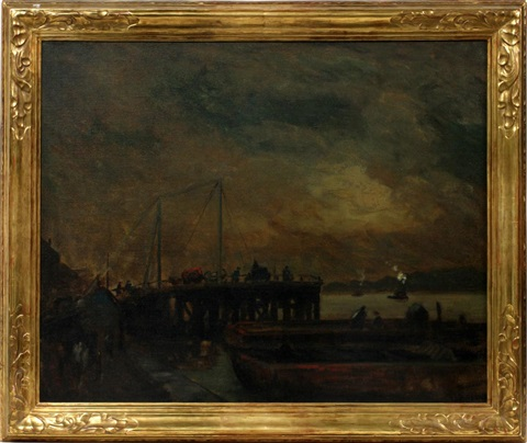 coal pier at the north river by robert henri