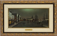 NOCTURNAL WHARF SCENE, 1905