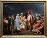 achilles presenting the prize of wisdon to nestor by raymond auguste quinsac monvoisin