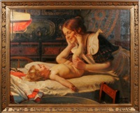 mother with baby by eduard kaempffer