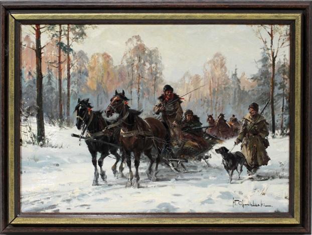 troika hunting party by wladyslaw t chemielinski