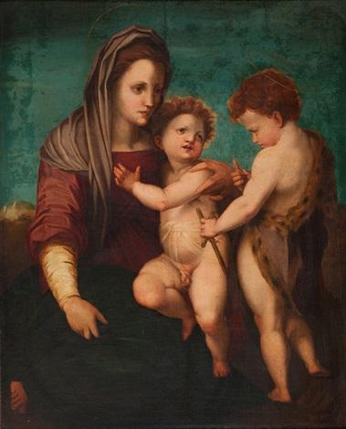 madonna mit kind und dem heiligen johannes by andrea del sarto