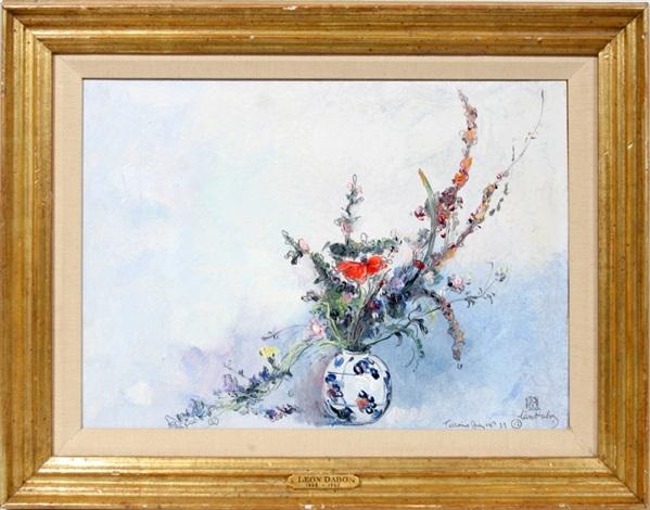 flowers in vase by leon dabo