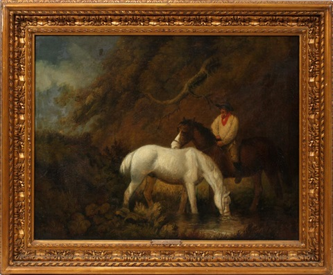 rider on horseback by george morland