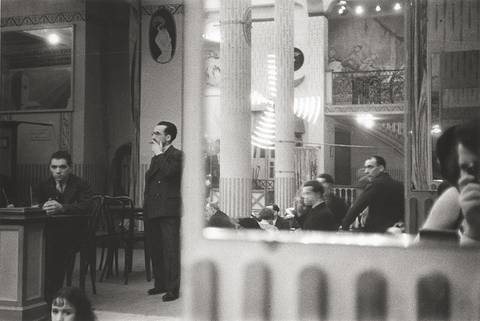 moulin rouge with self portrait by ilse bing