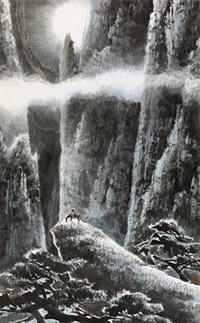 黄山月夜 by liu yong