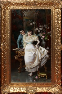 courting couple by pio ricci