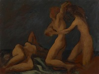 sketch of nudes by lorser feitelson