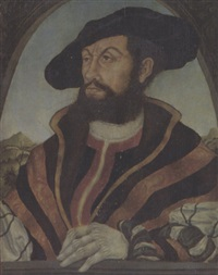 porträt des bernt knipperdolling, bürgermeister zu münster by hans wertinger