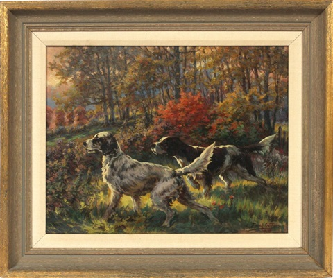 two setters on the hunt by edmund henry osthaus