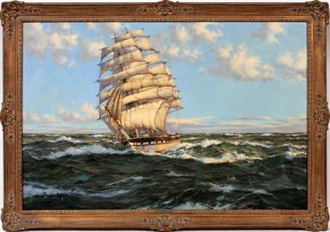 clipper ship harbinger by montague dawson