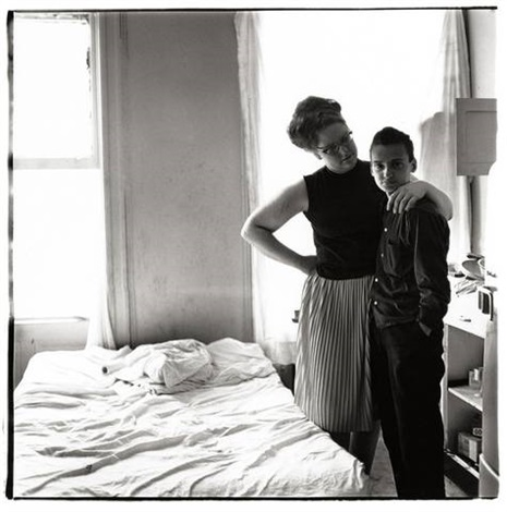 two friends at home nyc by diane arbus