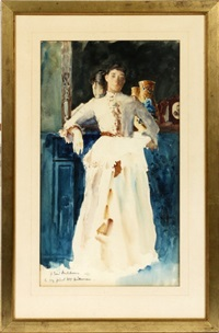 portrait of a woman by gari melchers
