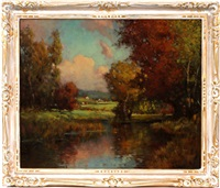 summer landscape by george thompson pritchard