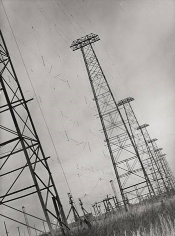at t long line towers that connect to south america spreading out across the state lawrenceville nj us by margaret bourke white