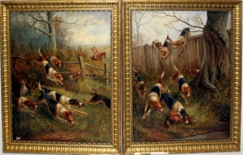 hunting dogs by e herbert
