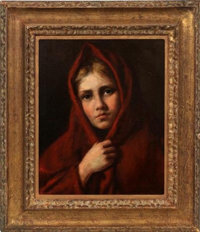 portrait of a young girl by nikolai y rachkov