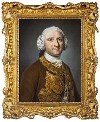 a portrait of a gentleman (george hinde of rome house?) by francis cotes