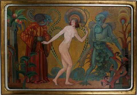 an evocative section of a mural by oswald fell