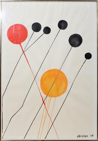 several lollipops by alexander calder