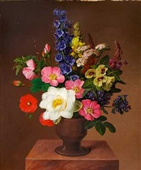 en broget buket blomster by johannes ludwig camradt