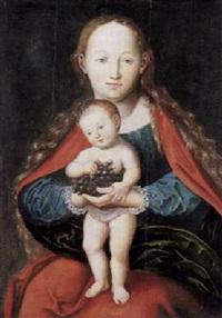 madonna mit stehendem kind und trauben by cyriakus röder