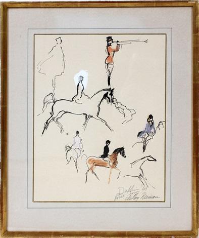 dublin horse show by leroy neiman