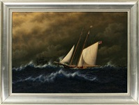 american clipper ship by franklin bassford