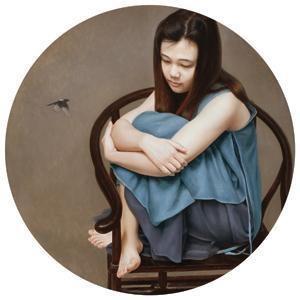 喜鹊 magpie by zhang dali