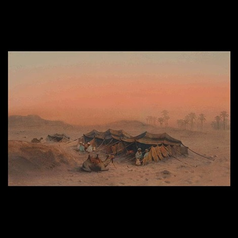 desert scene by louis comfort tiffany