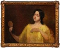 girl with mirror by hamilton hamilton