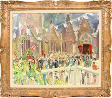 cathedral exterior with crowd by trafford partridge klots