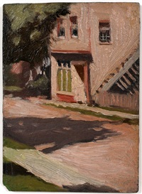 street in shade by edward hopper