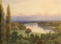 the thames at richmond, england by frederick charles dixey
