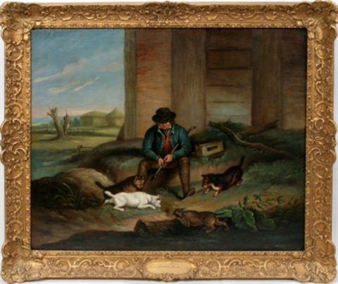 english countryman with dogs by j ward
