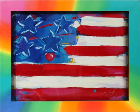heart of flag by peter max
